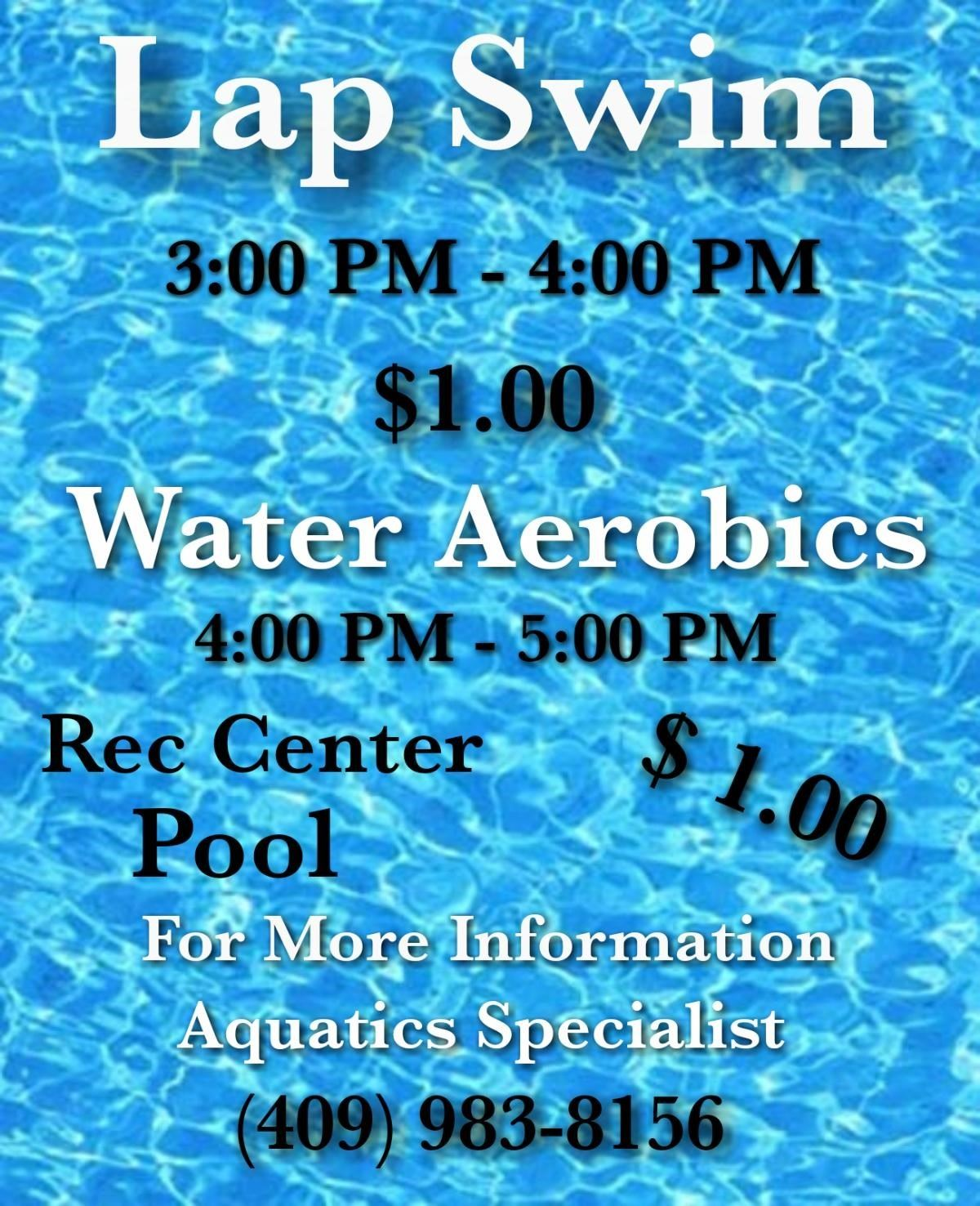 Lap Swim and Water Aerobics