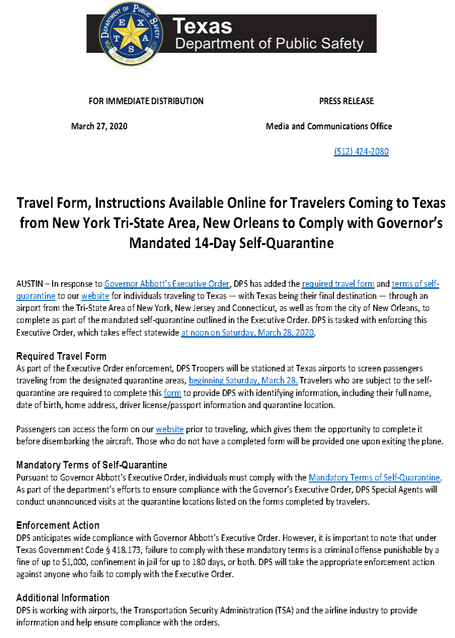 FOR IMMEDIATE DISTRIBUTION-TravelDocuments