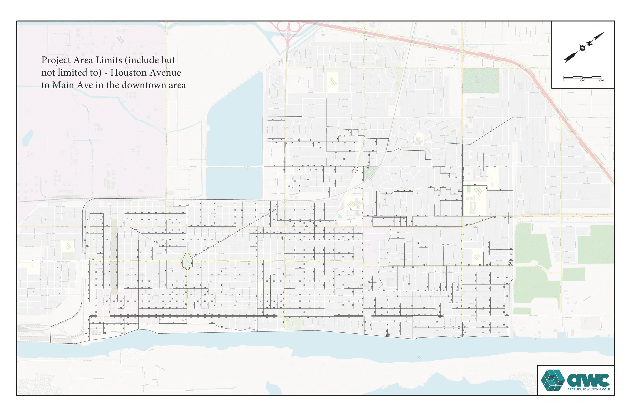 Map-Downtown Drainage Mitigation Project