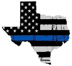 Texas Thin Blue Line Flag