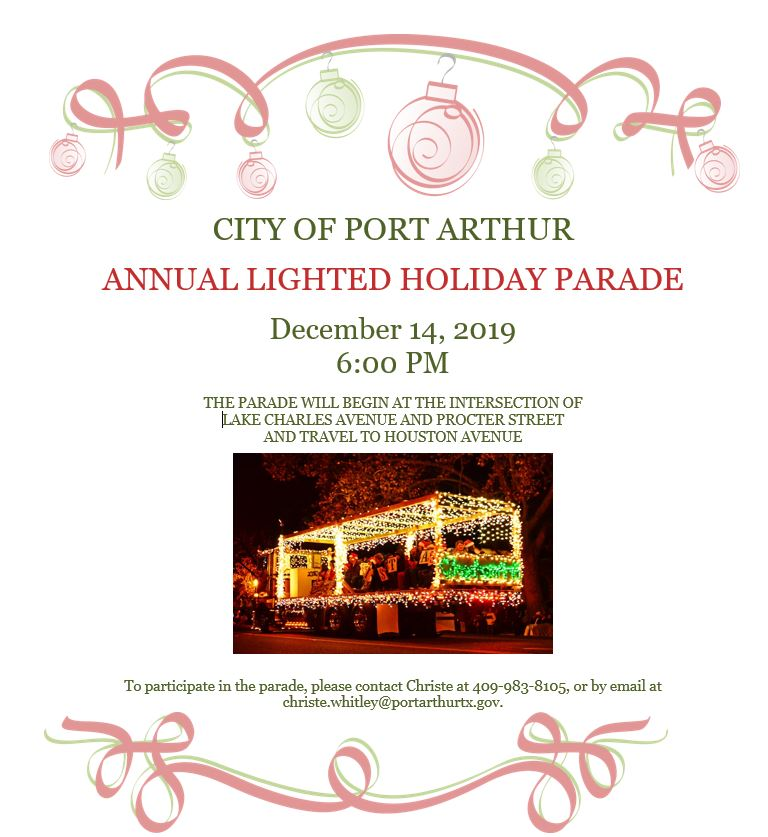 Lighted Holiday Parade Flyer