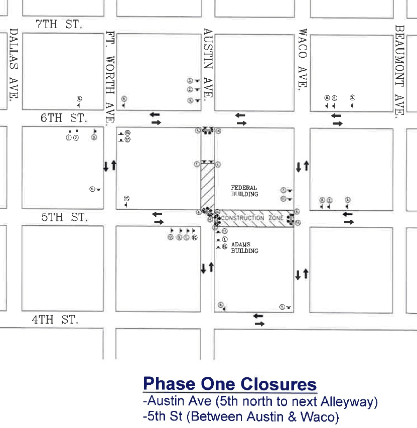 Motiva Project Street Closure-Phase 1