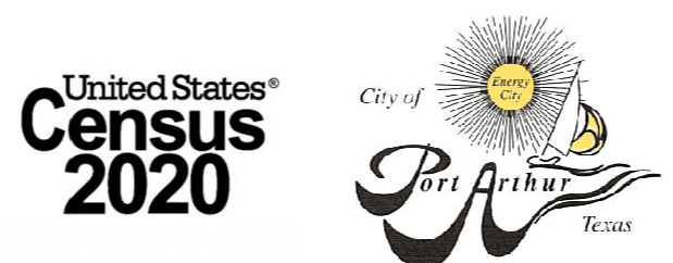 US Census and Port Arthur City logos