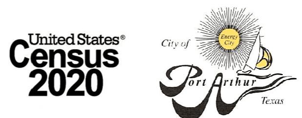 US Census and Port Arthur City logos