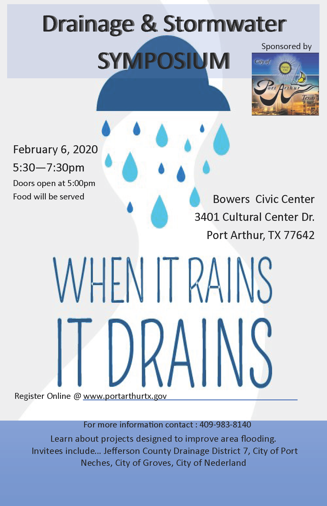 Drainage, Stormwater Symposium Flyer Opens in new window