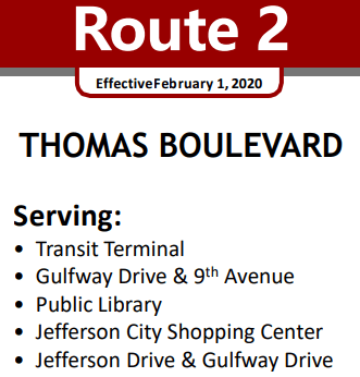 Route 2 Service Area streets