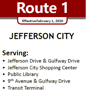 Route 1 Service Area streets