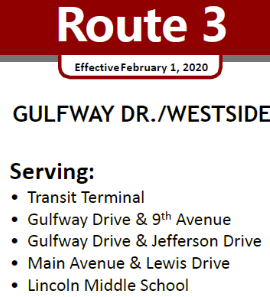Route 3 Service Area streets