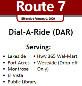 Route 7 Service Area locations
