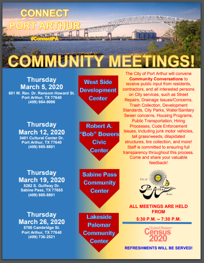 Community Meetings Flyer