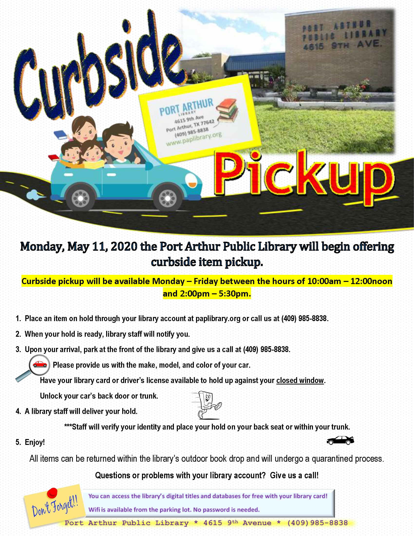Curbside Pickup-Monday-5-11-20-PAPLibrary
